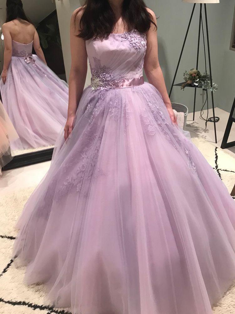 紫のキラキラドレス