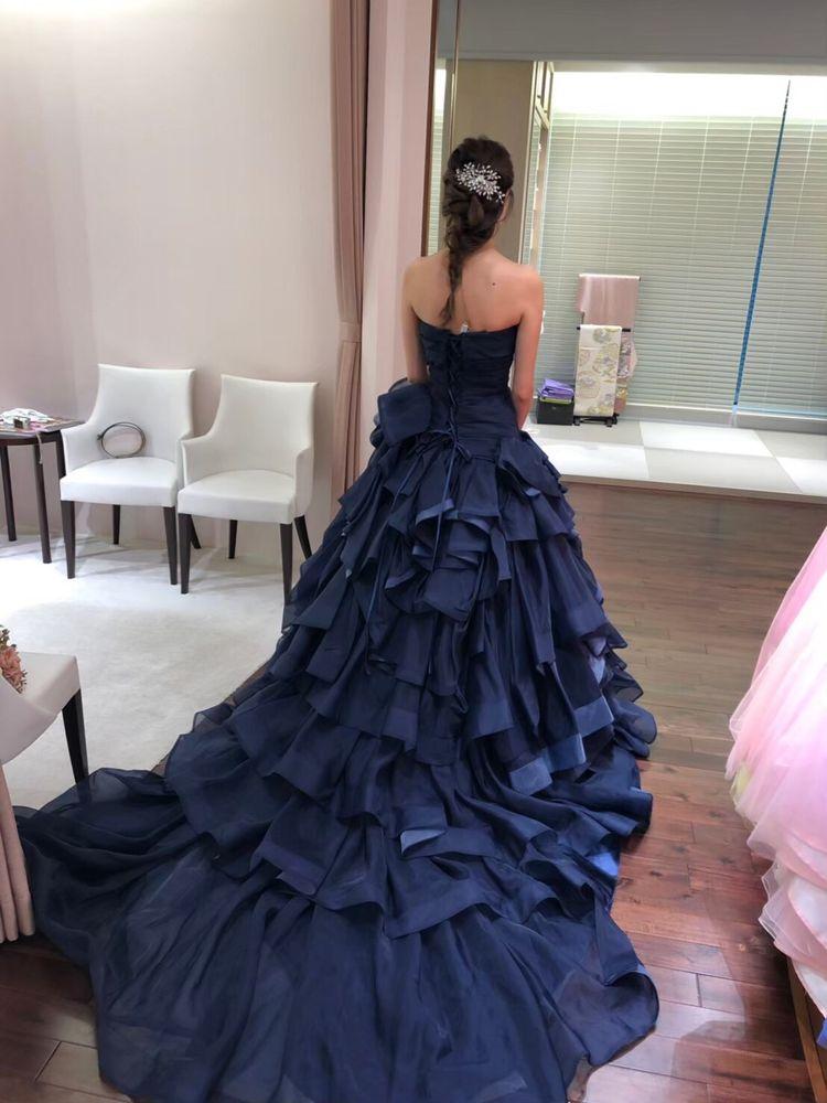 ネイビーカラードレス