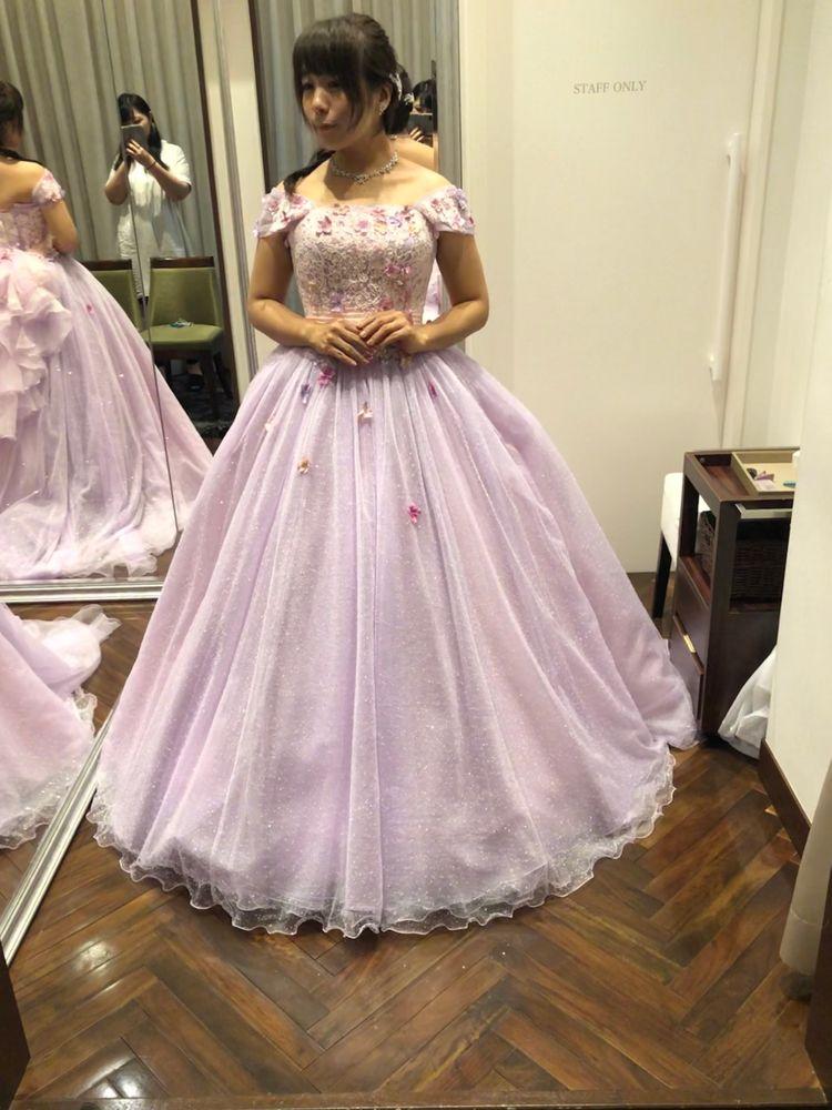 ラプンツェル好きな花嫁のためのドレス!