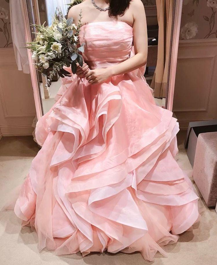 お姫様みたいなピンクドレス