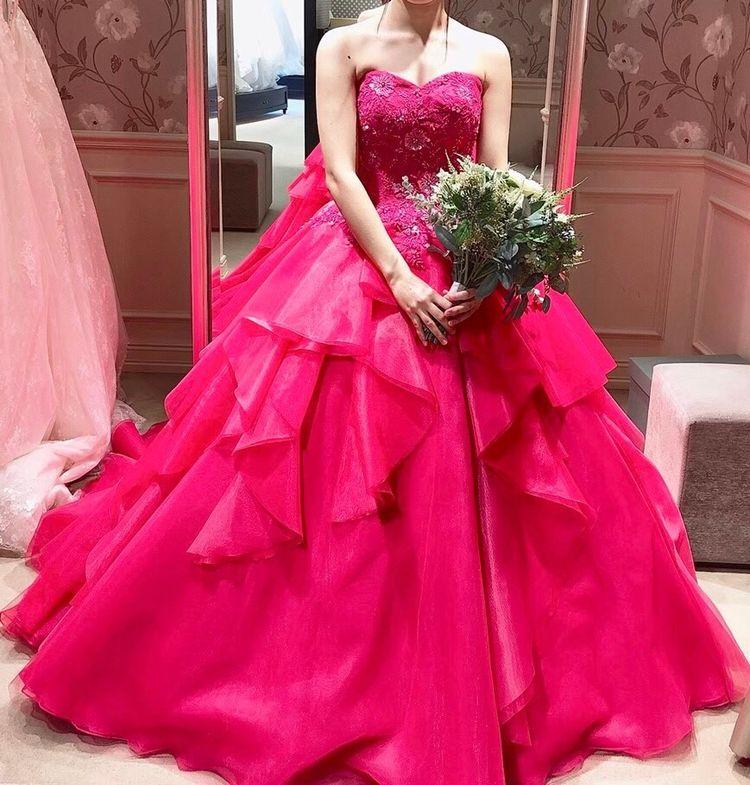 ピンクの新作ドレス