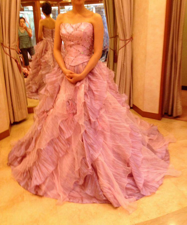 大人っぽいピンクのドレス