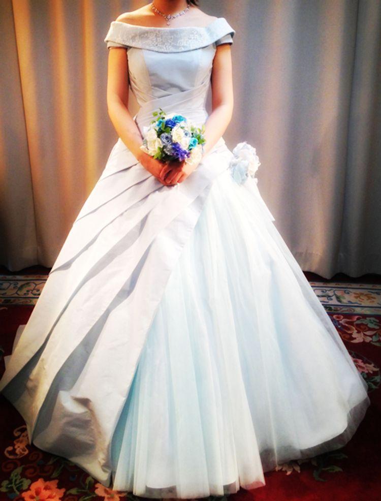 413a6f4b55fb8 童話のお姫様のようなドレス」ブライダルサロンのサイトで見たときから ...