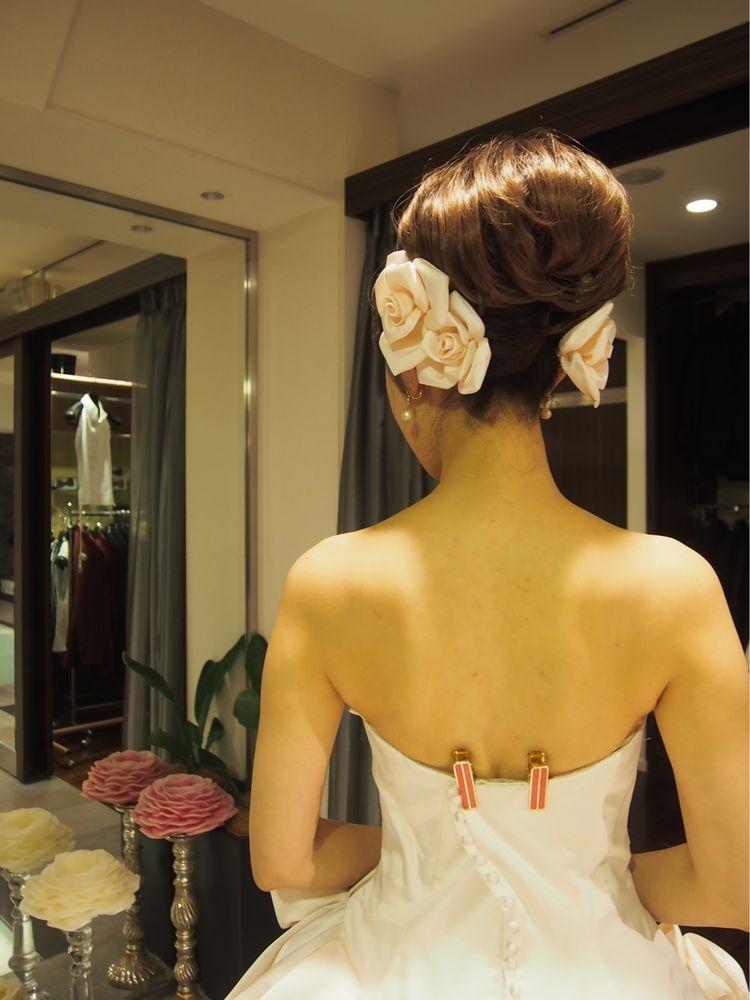 桜のようなドレス