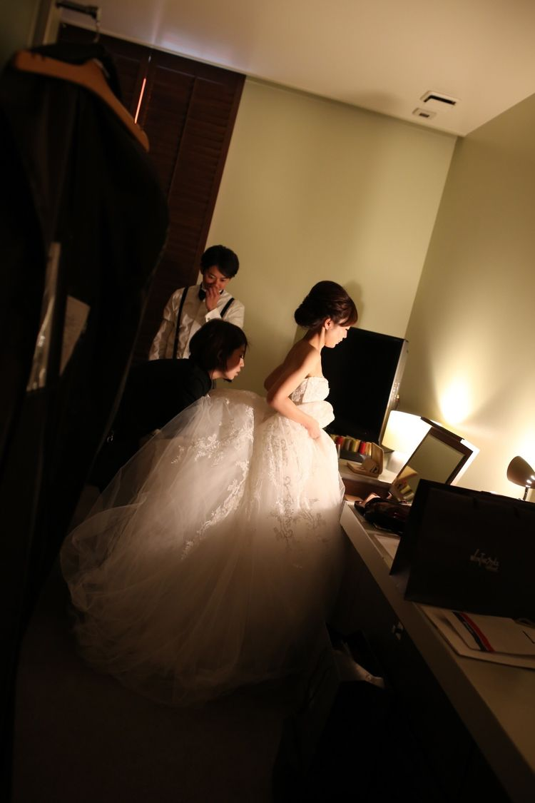 憧れのモニークルイリエのウェディングドレス