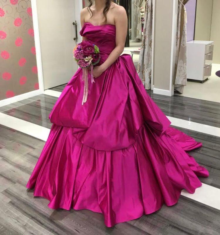 大人っぽいピンクドレス