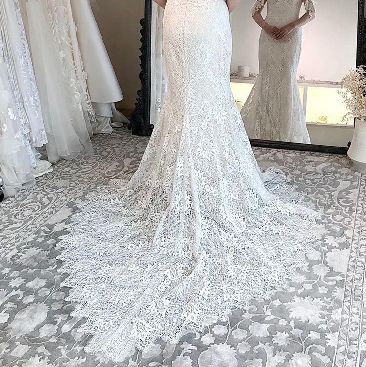Claire Pettibone Bordeaux Gown