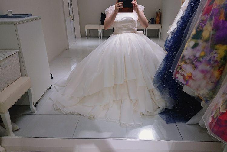 ふんわり可愛いウエディングドレス