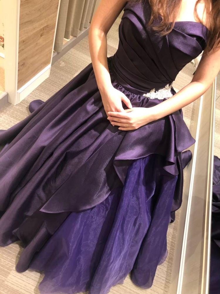 大人花嫁の上品ドレス