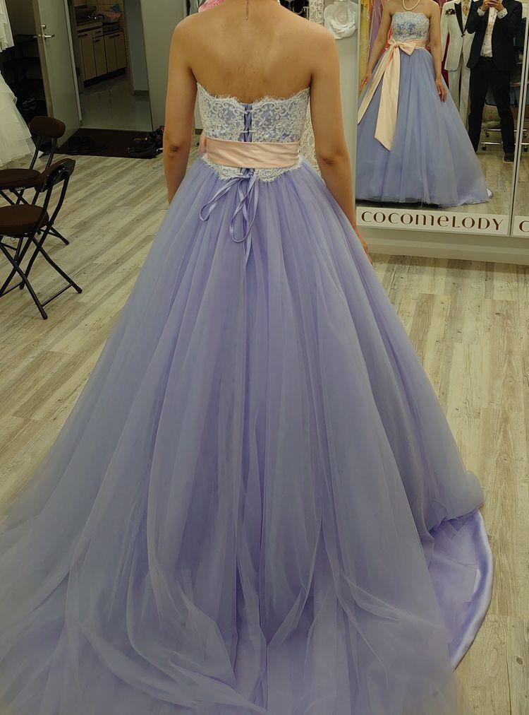 ラベンダーのドレス