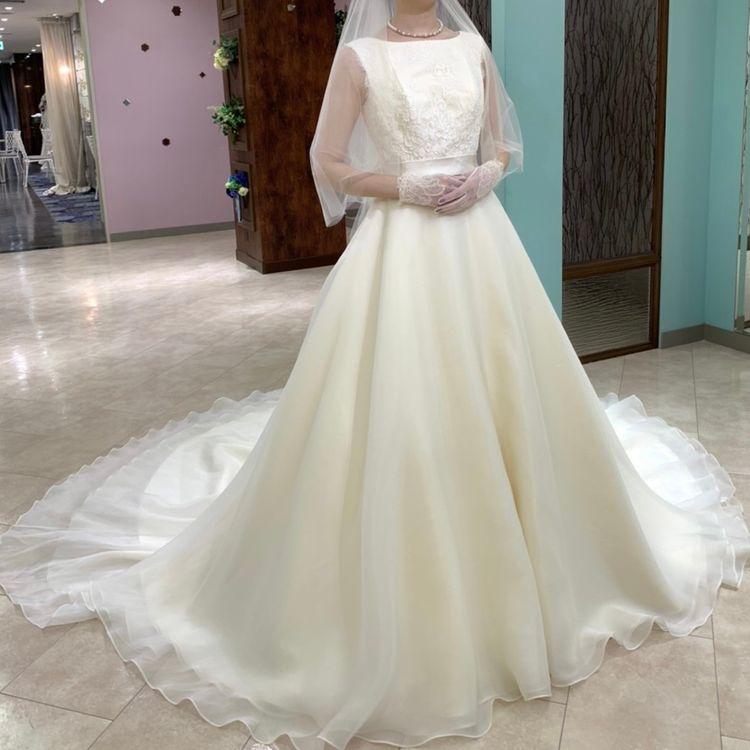 上品なAラインのドレス