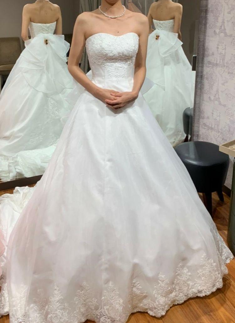 ふんわりウエディングドレス