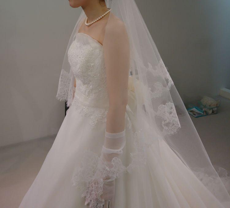 オーガンジーのドレス
