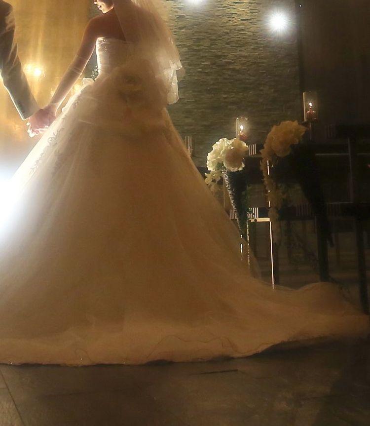 バックのリボンに一目ぼれした大満足のドレス