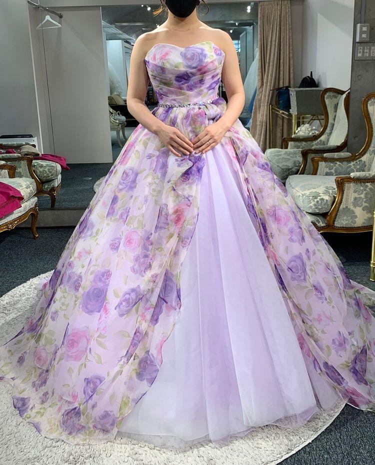 可愛いプリントドレス