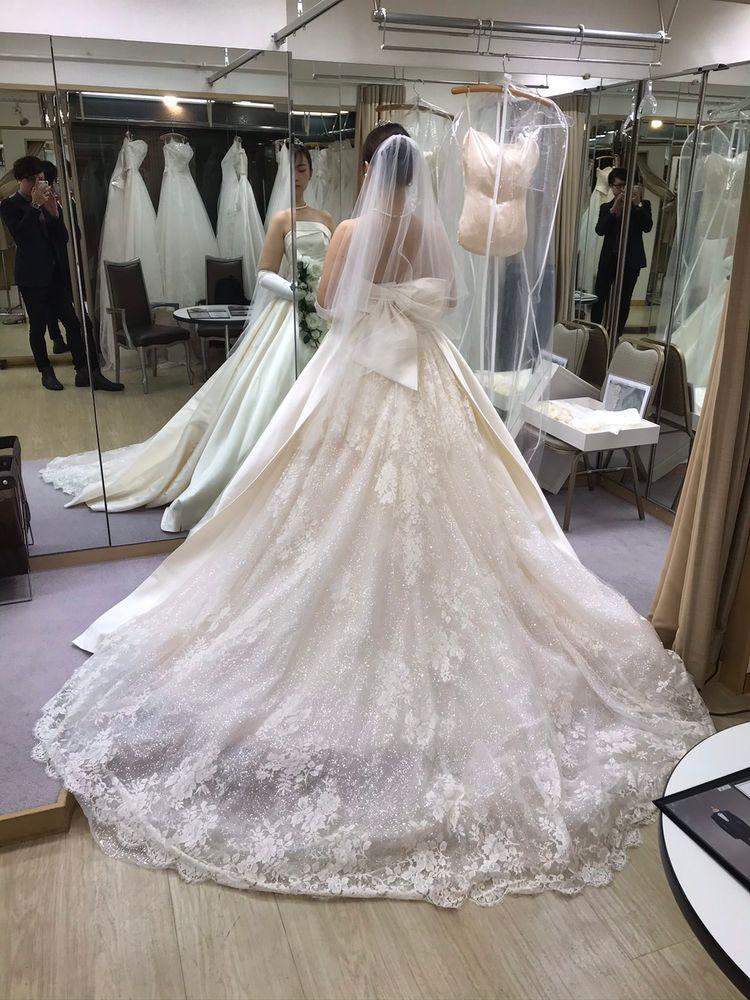 ミカドシルクが美しいドレス