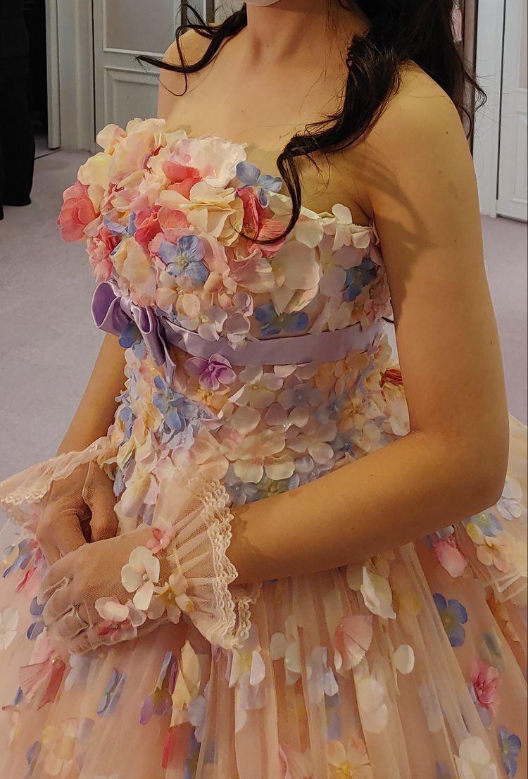 可愛らしさ満点のドレス