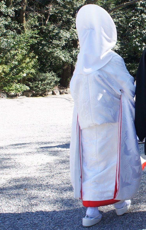 憧れの白無垢が着られて満足です。