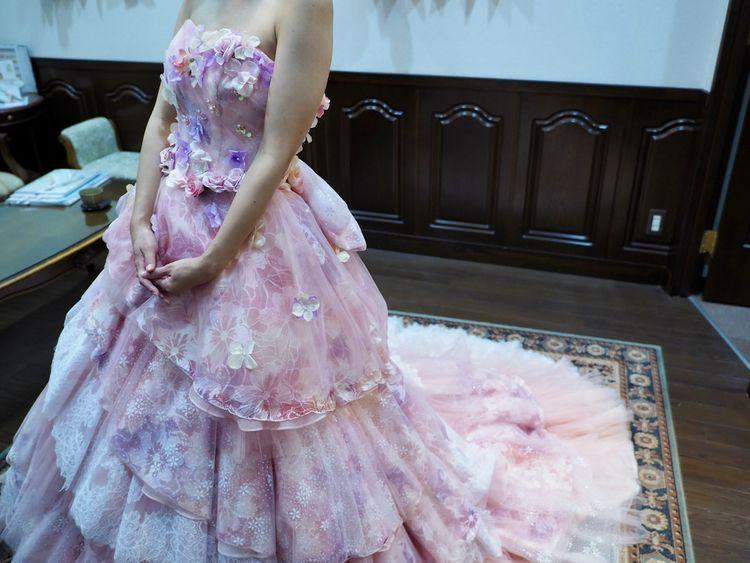 ラプンツェル風ドレス