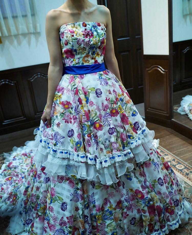 夏のお嬢さんドレス