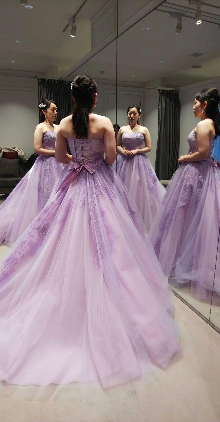 ラプンツェルみたいで可愛らしいドレス