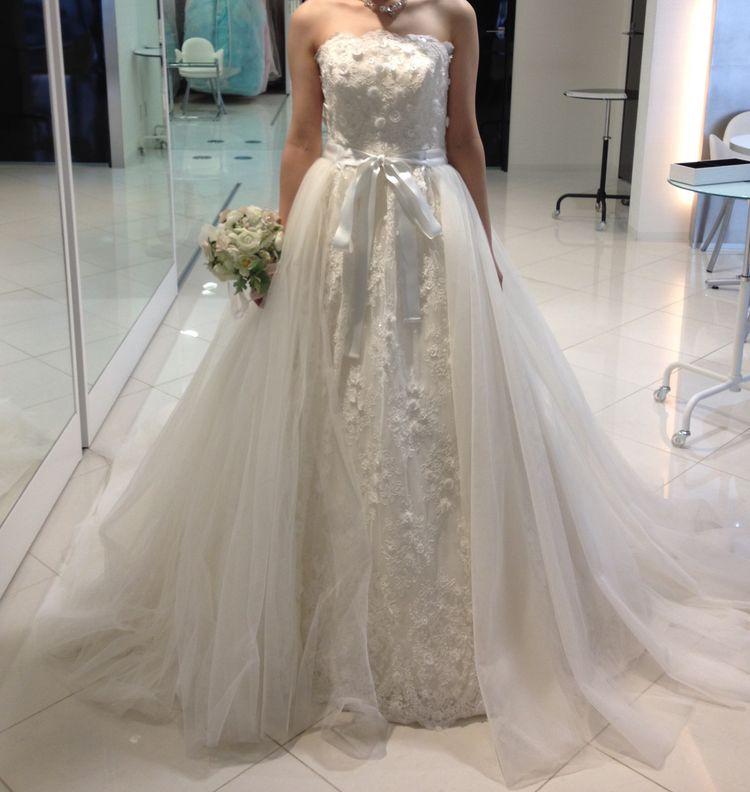 挙式にて着用したウェディングドレス