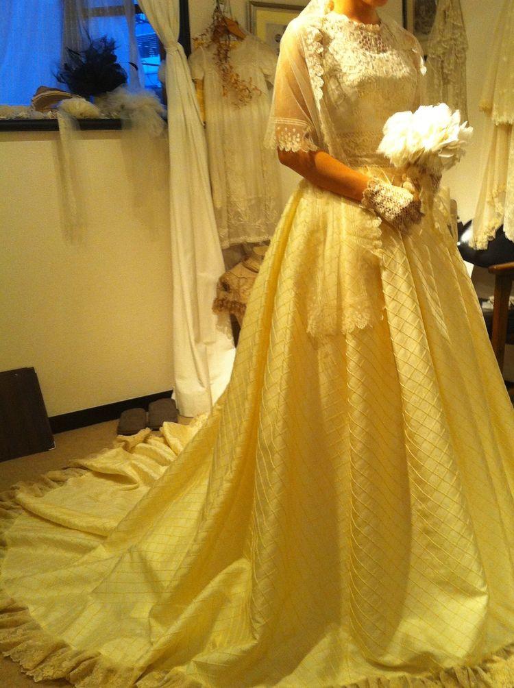 一点物ビンテージレースドレス