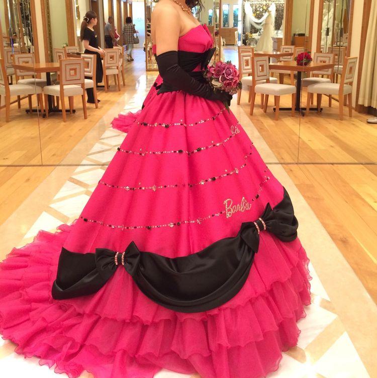 バービーカラードレス