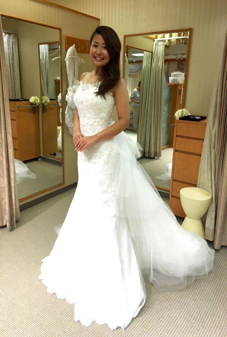 マーメイドラインでもロマンティックなドレス