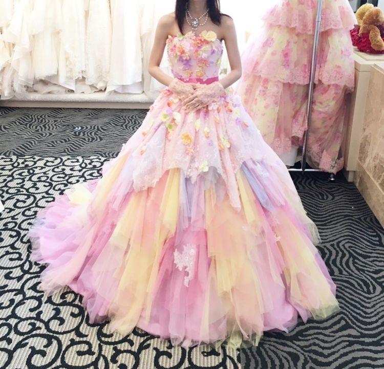 パステルカラーのお花ドレス