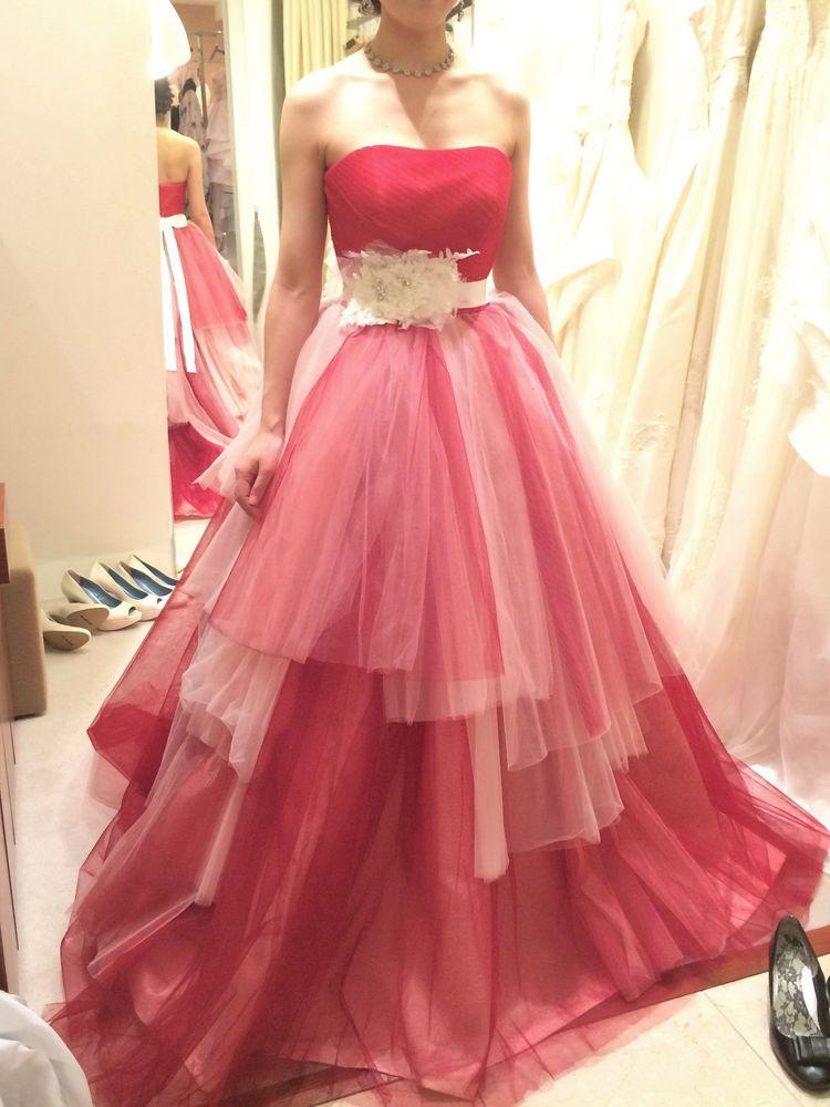 Dior☆綺麗な赤いカラードレス
