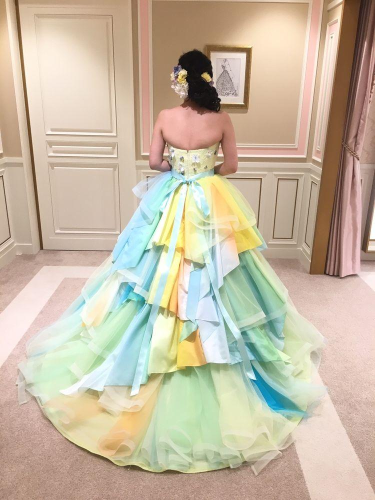 明るいビタミンカラードレス♪