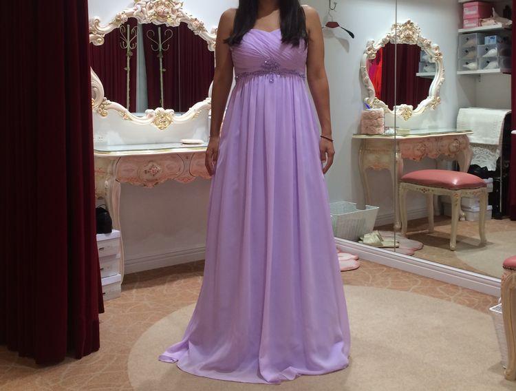 妊娠中のカラードレス