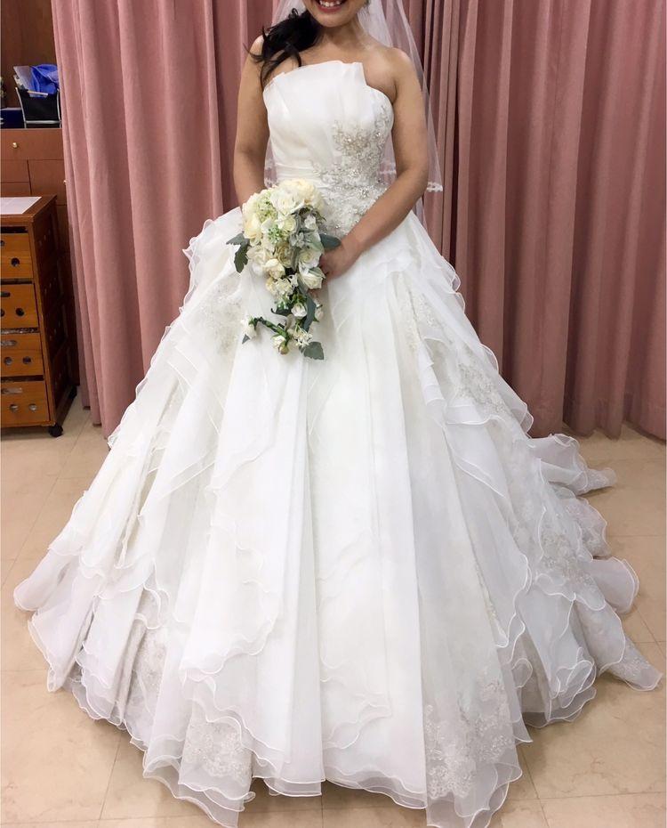 ふわっふわで豪華なプリンセスラインのドレス