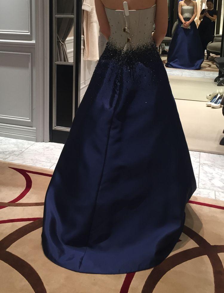 リームアクラのバイカラードレス