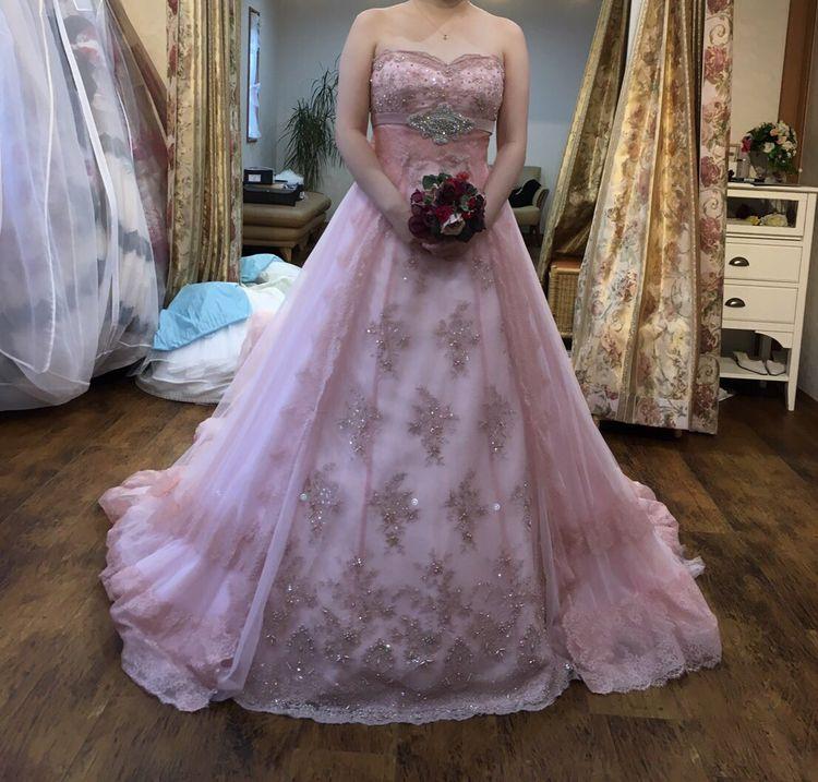 ジルスチュアートのピンクのドレス