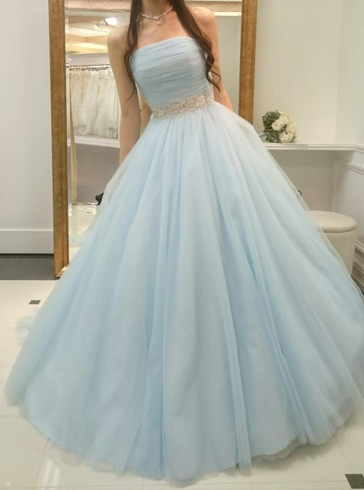 272db69bca920 「水色がとっても爽やかなカラードレス」爽やかな印象の水色のドレスは春夏の結婚式にぴったりと思い選び...口コミ・評判