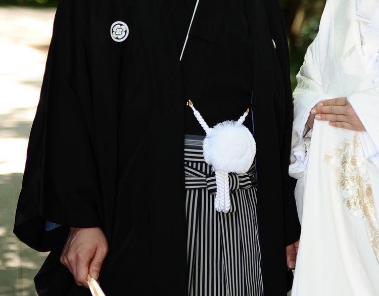 正統派の「黒五つ紋付き羽織袴」