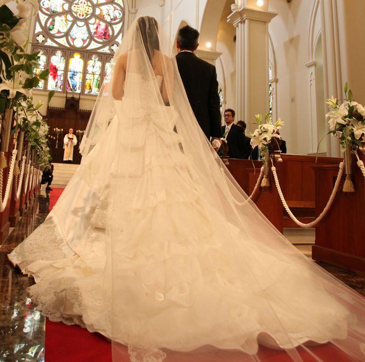 ボリュームがありお姫様みたいなドレス