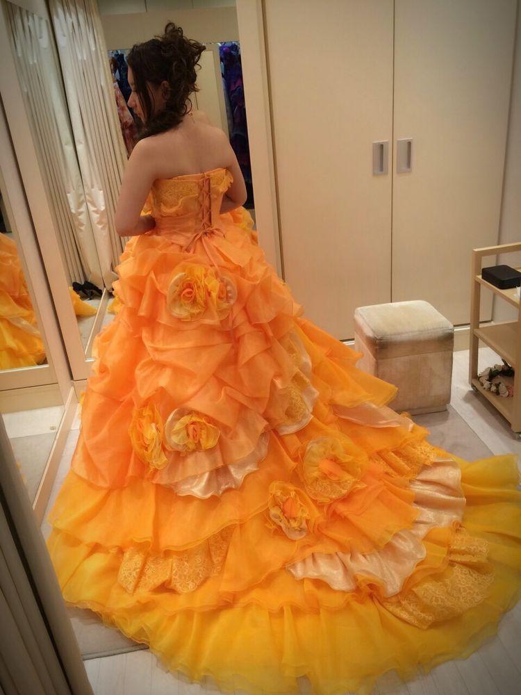 ベルの様なプリンセスドレス
