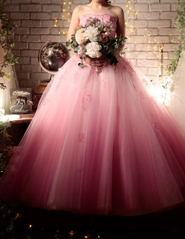 ピンクが可愛いドレス♡