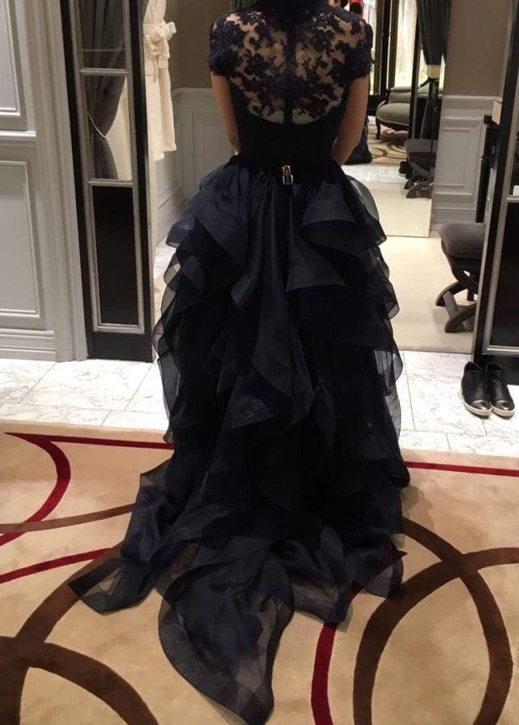リームアクラ ネイビーレースのドレス