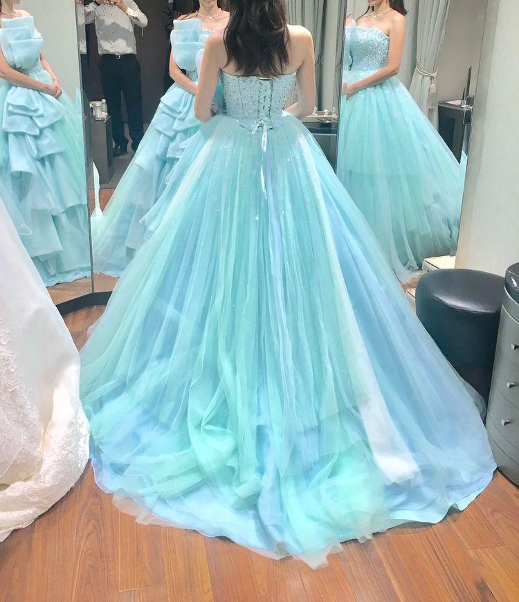爽やかだけど可愛らしくもなれるドレス