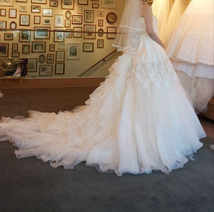 バックスタイルがとても可愛いドレス
