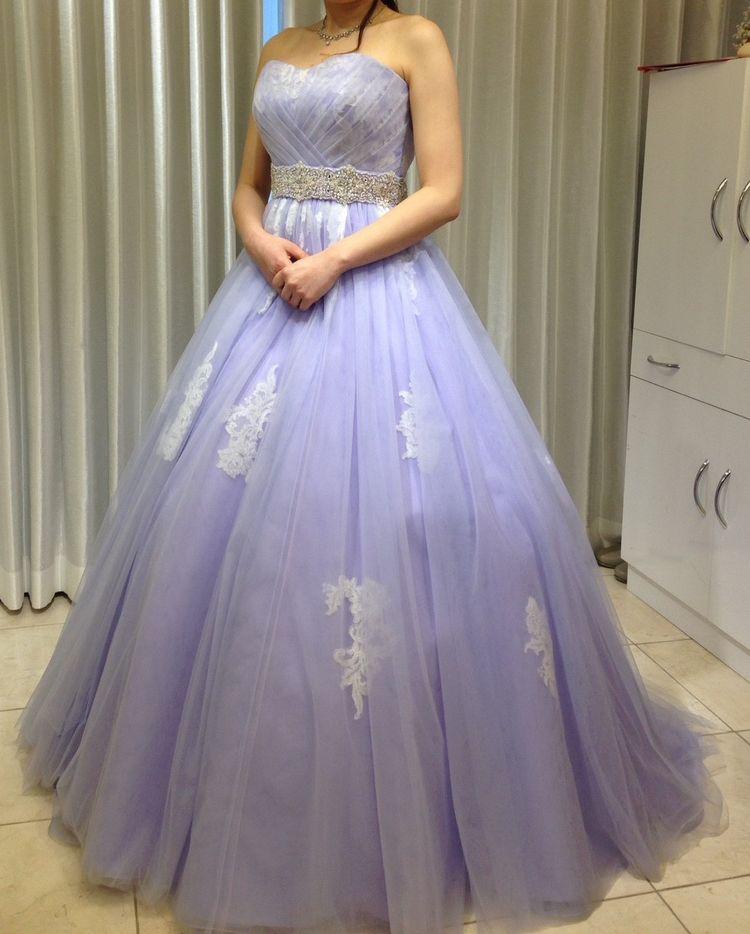 【癒し系ドレス】パステルバイオレットカラー