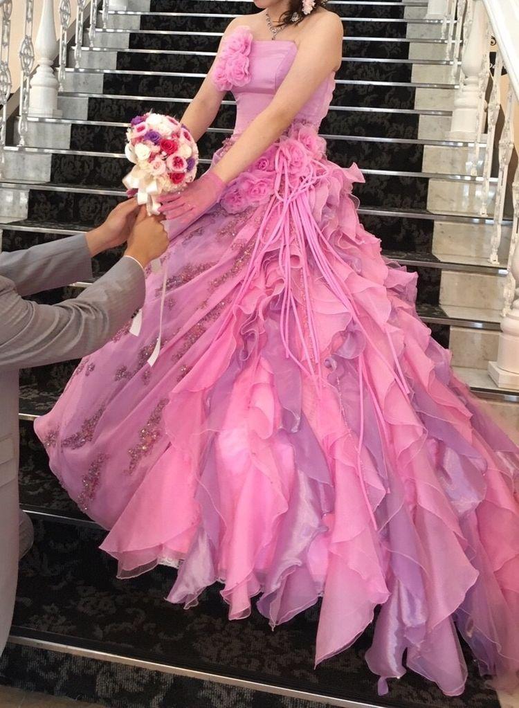 可愛らしいカラードレス*°