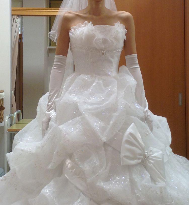 プリンセスのようなウェディングドレス!