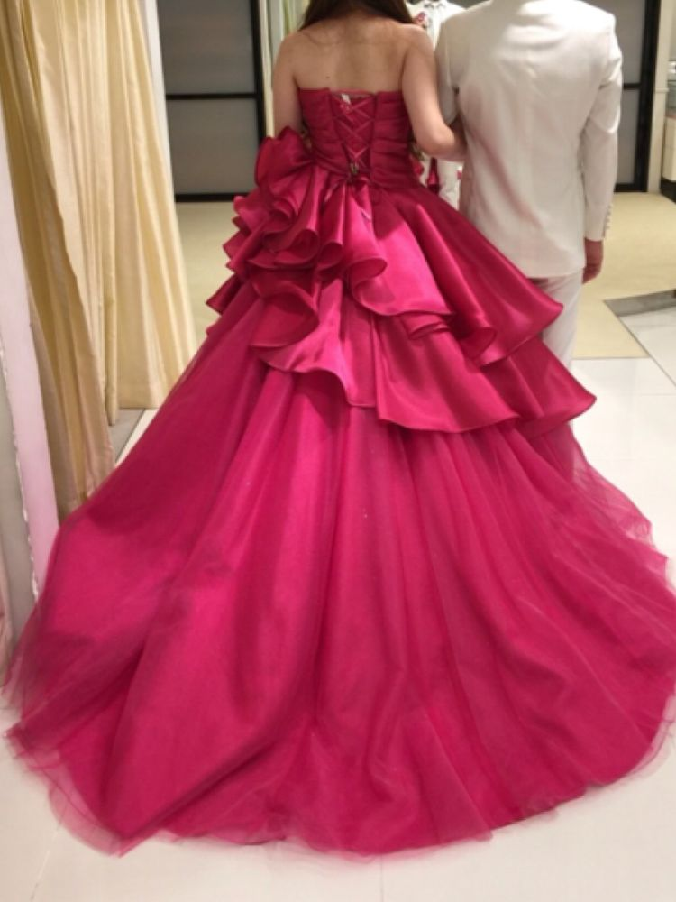 チェリーピンクドレス