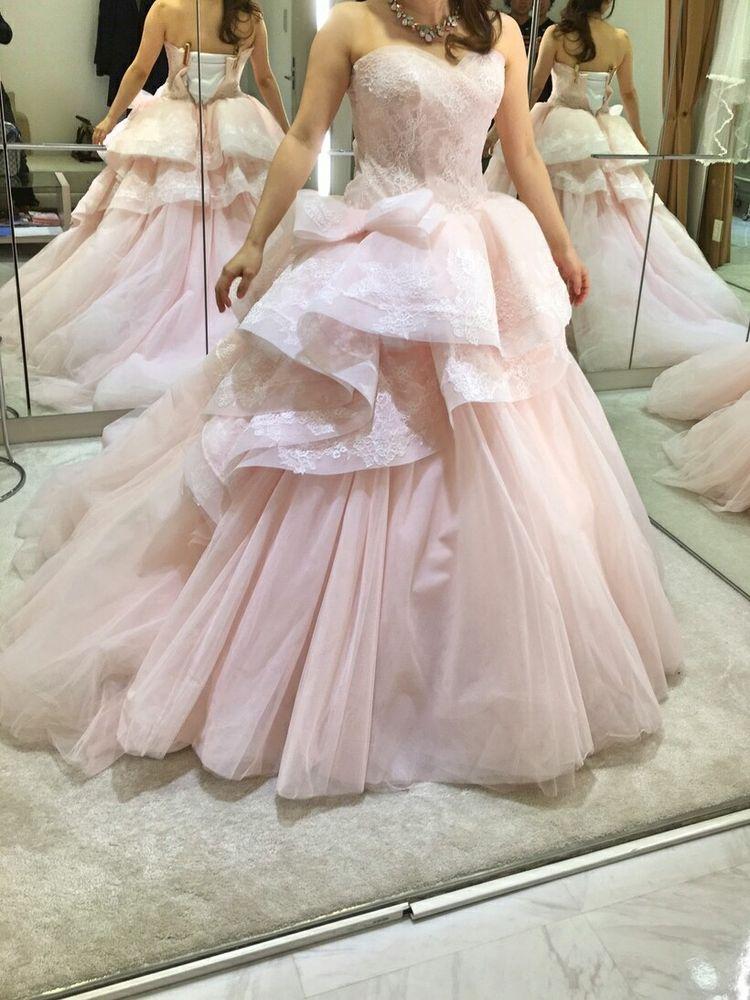 甘いデザインのピンクドレス♡