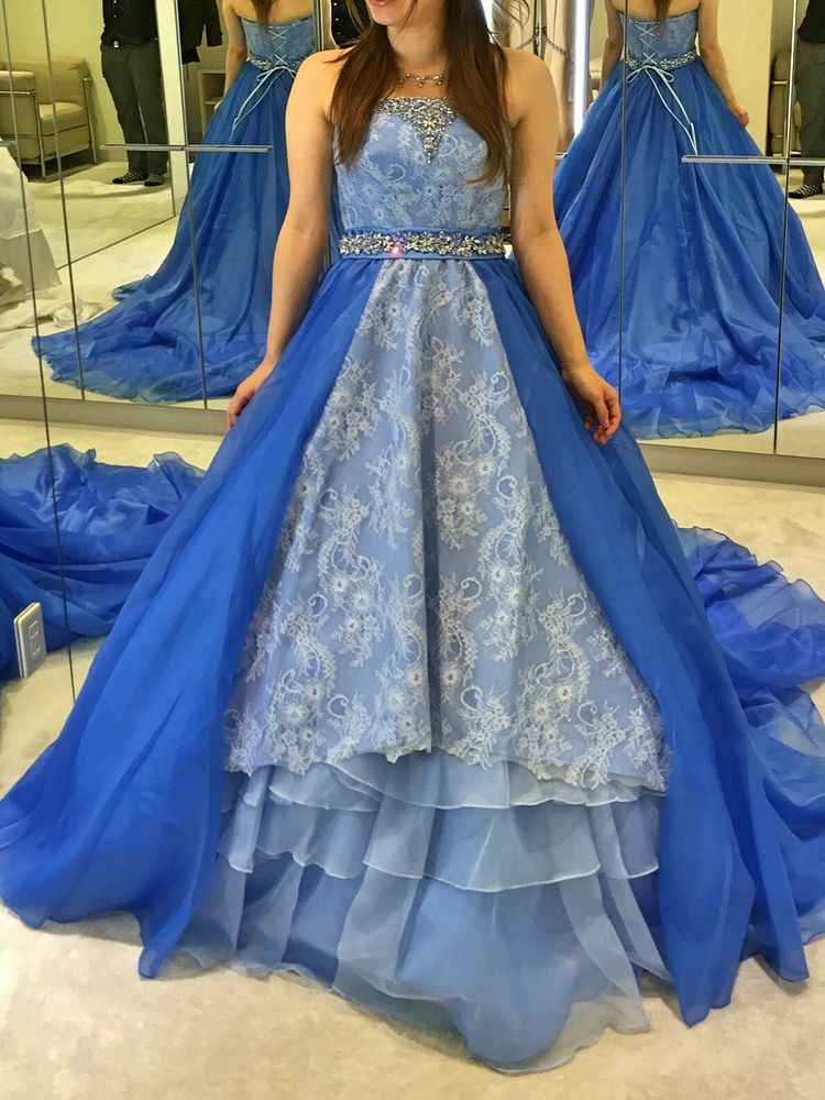 雪の女王のようなドレス♡